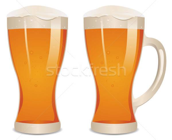 Glass Of Beer Stock photo © benchart