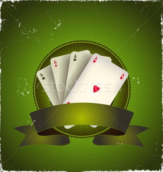 Casino Poker Aces Banner Stock photo © benchart
