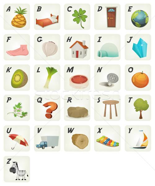 Cartoon ABC Cliparts Poster Stock photo © benchart