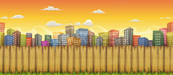 Seamless City Landscape Background Stock photo © benchart