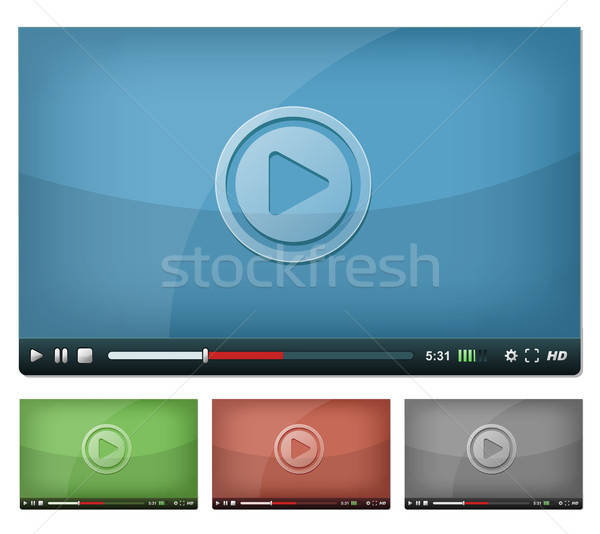 Video Player For Web And Tablet PC Stock photo © benchart
