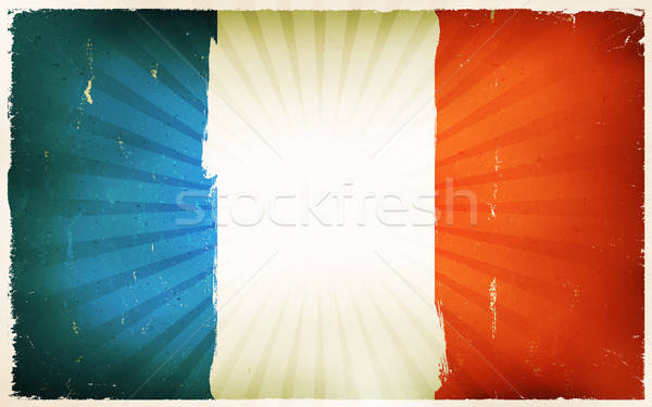Vintage French Flag Poster Background Stock photo © benchart