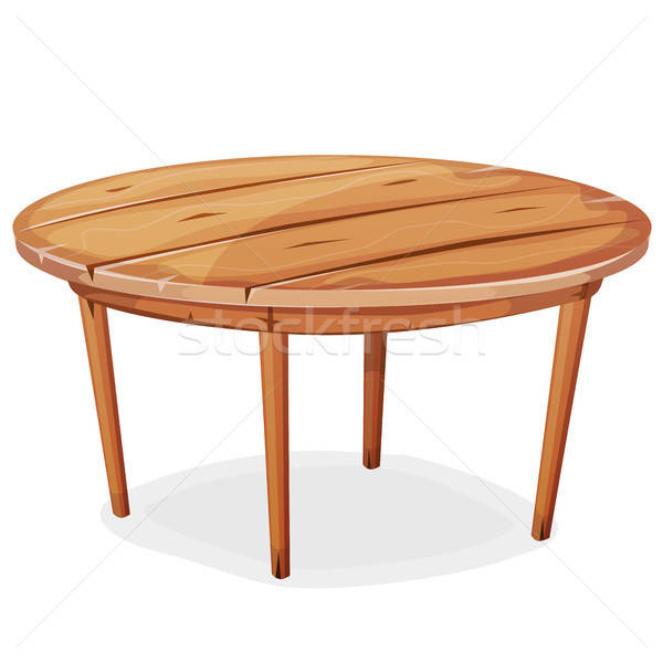 Cartoon Wood Table Stock photo © benchart