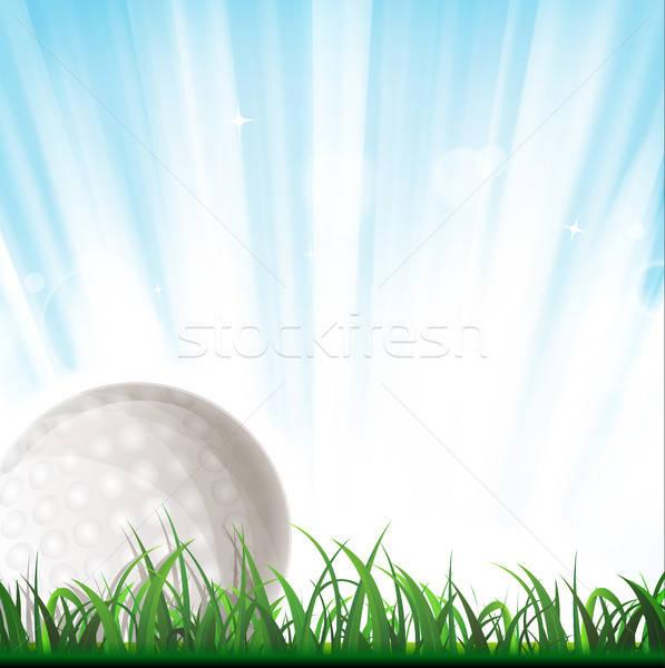 Golf topu örnek içinde çim ışık Stok fotoğraf © benchart