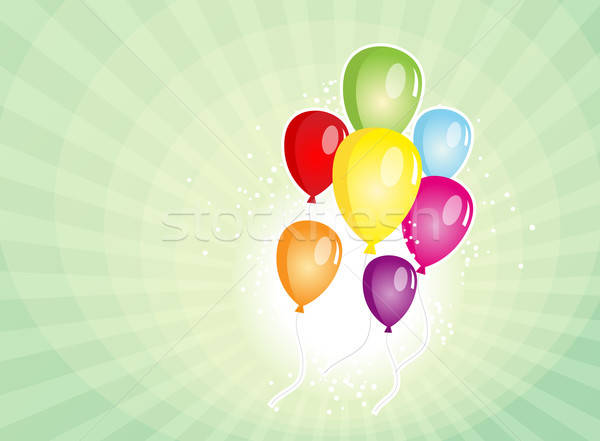 Balloons Party For Carnival And Holidays Background Stock photo © benchart