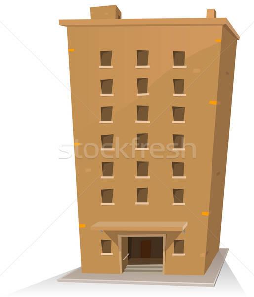 Rajz épület illusztráció torony húsz szobák Stock fotó © benchart