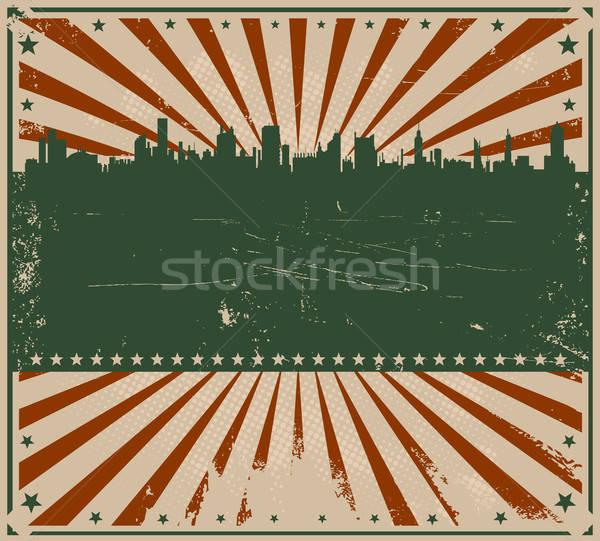 Dördüncü örnek amerikan poster broşür şehir Stok fotoğraf © benchart