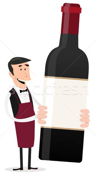 Cartoon French Winemaker Stock photo © benchart