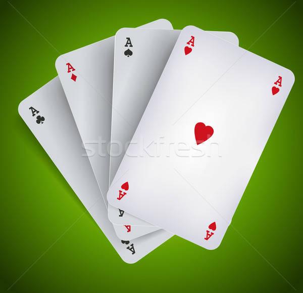 Poker Aces - Casino Gambling Stock photo © benchart