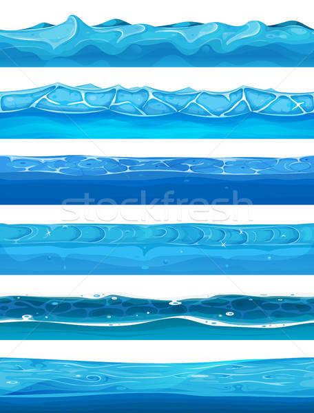 Eau océan rivière couches ui Photo stock © benchart