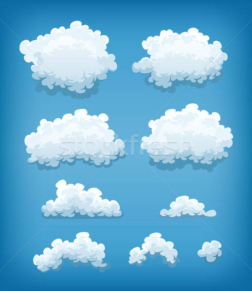 Clouds Set On Blue Sky Background Stock photo © benchart