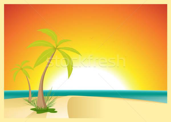 Exotic Beach Postcard Stock photo © benchart