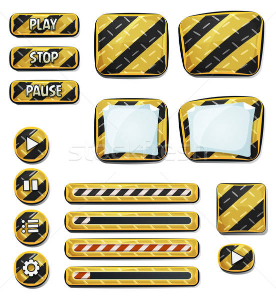 Warning Icons And Elements For Ui Game Stock photo © benchart