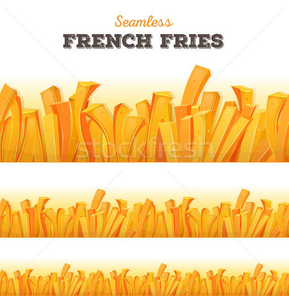 Seamless French Fries Background Stock photo © benchart