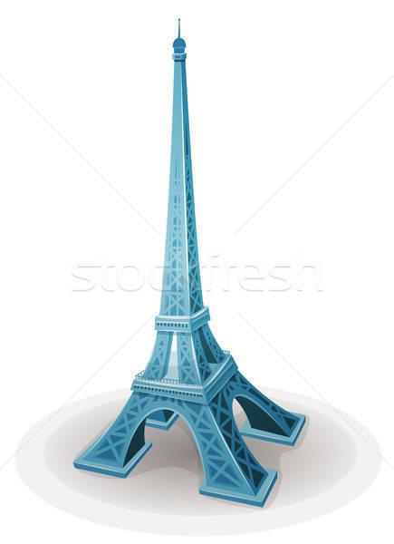 Eyfel Kulesi örnek karikatür ünlü fransız Paris Stok fotoğraf © benchart