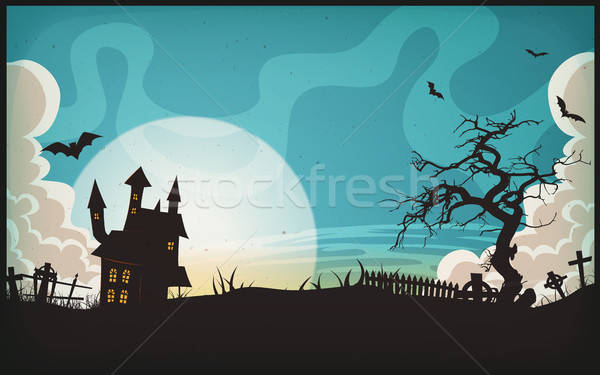 Halloween Landscape Background Stock photo © benchart