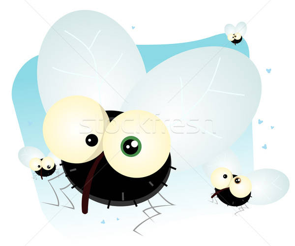 Cartoon Housefly Stock photo © benchart