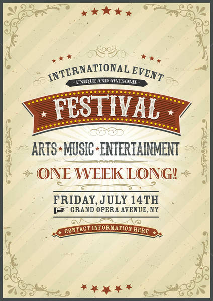 Vintage Festival Poster Stock photo © benchart