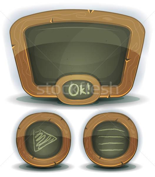 Iskola tábla ikonok ui játék illusztráció Stock fotó © benchart