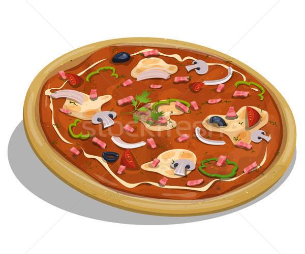 Italian Pizza Stock photo © benchart