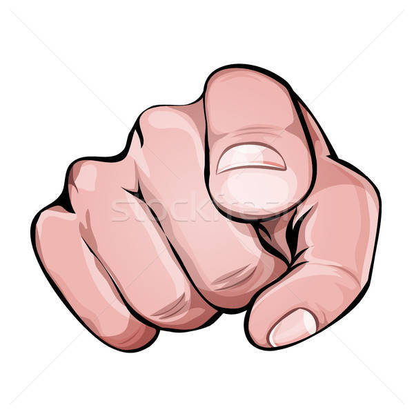 Senalando dedo icono ilustración mano humana índice Foto stock © benchart