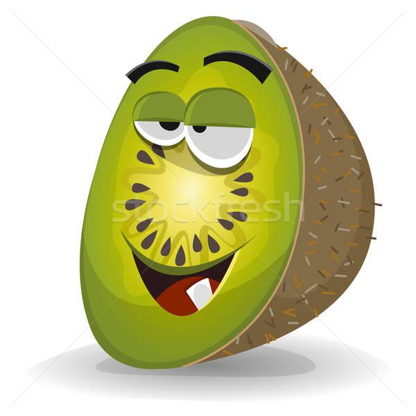 Rajz vicces kiwi karakter illusztráció boldog Stock fotó © benchart