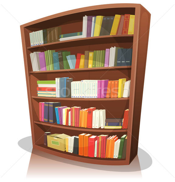 Cartoon Library Bookshelf Stock photo © benchart