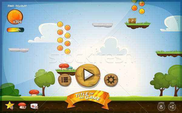 Platform Game User Interface For Tablet Stock photo © benchart