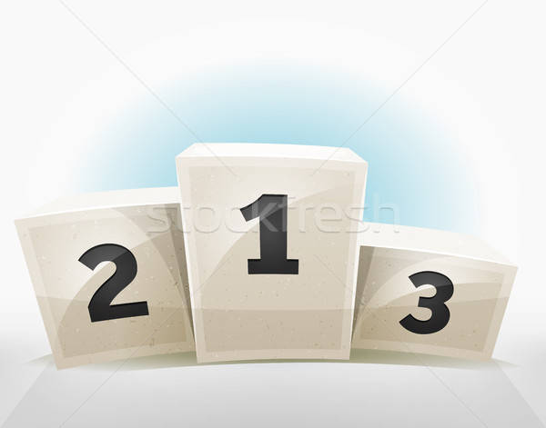 Gagnants podium illustration attribution gagnant Photo stock © benchart
