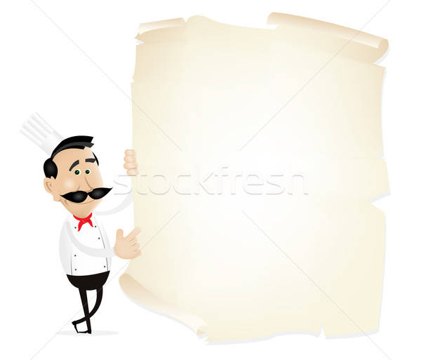 List Menu On A Parchment Stock photo © benchart