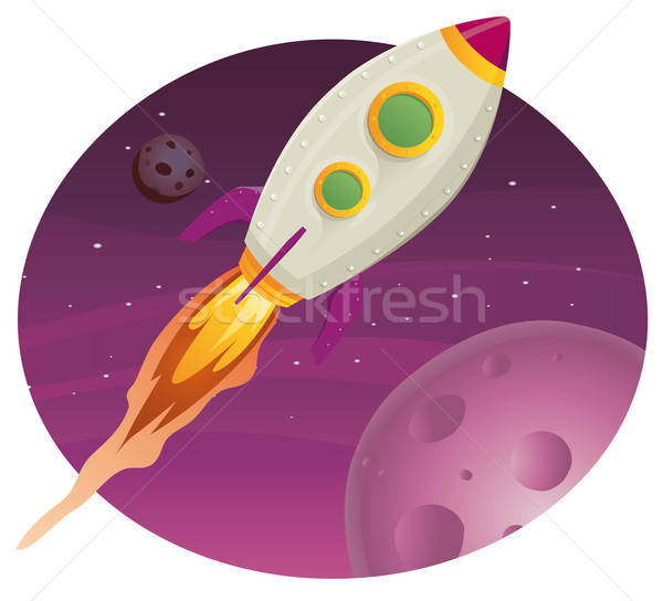 Rocket ship Flying In Space Stock photo © benchart