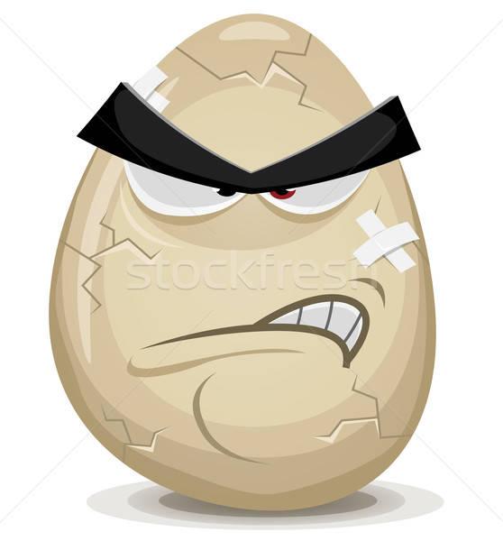 Angry Egg Character Stock photo © benchart