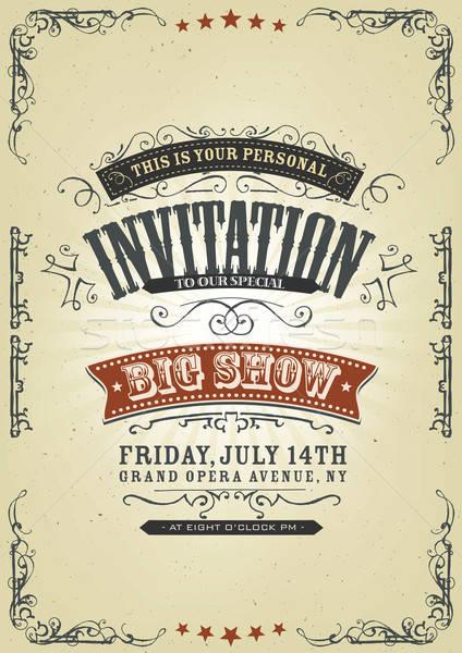 Vintage Invitation Background Stock photo © benchart