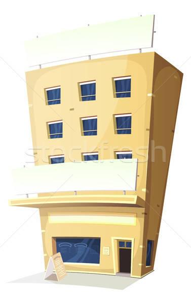 Cartoon posada restaurante edificio ilustración hotel Foto stock © benchart