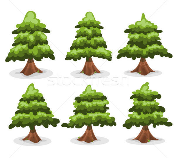 Pine Trees And Firs Collection Stock photo © benchart