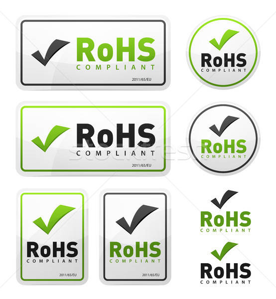 RoHS Compliant Icons Set Stock photo © benchart