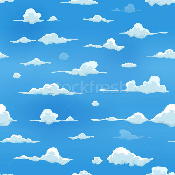 Seamless Clouds On Blue Sky Background Stock photo © benchart