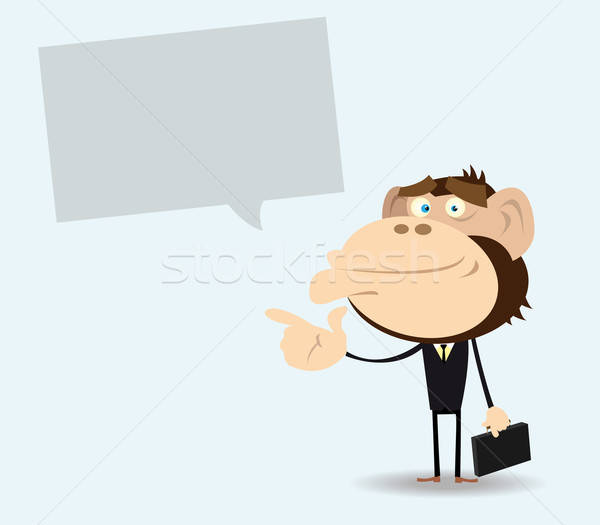 Gorilla Businessman with Message Stock photo © benchart