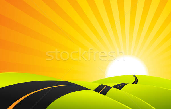 Long Journey In Summer Season Stock photo © benchart