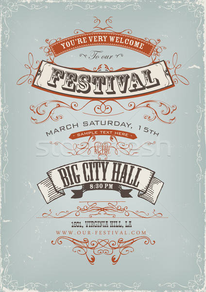 Grunge Festival Invitation Poster Stock photo © benchart