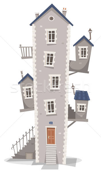 Old House Building Stock photo © benchart