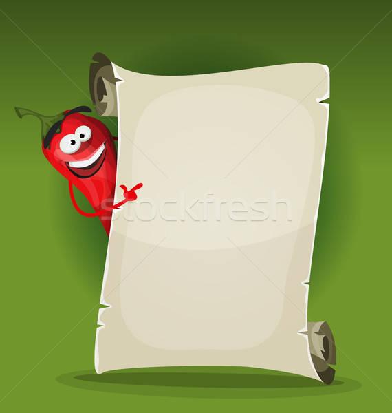Rojo caliente chile restaurante menú Foto stock © benchart