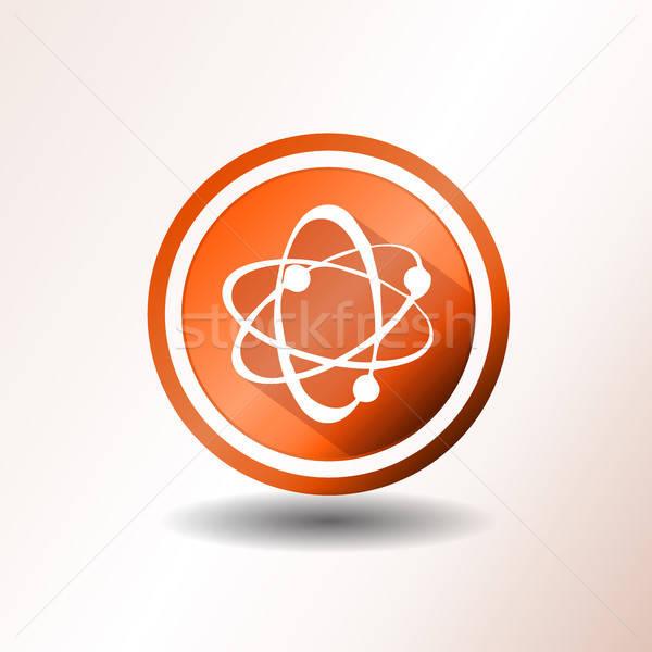 Foto stock: átomo · ícones · projeto · ilustração · laranja · ícone