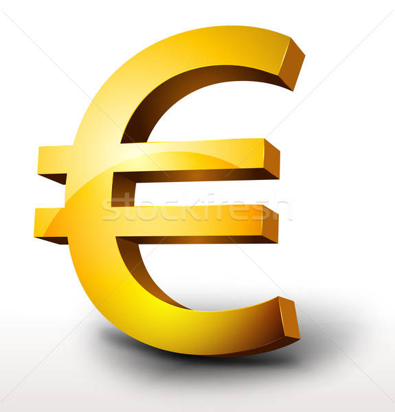 Goud euro valuta illustratie glanzend 3D Stockfoto © benchart
