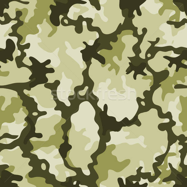 Seamless Military Camouflage Stock photo © benchart