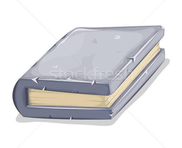 Rajz kő könyv illusztráció borító képregény Stock fotó © benchart