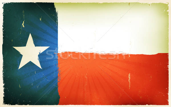 Vintage American Texas Flag Poster Background Stock photo © benchart