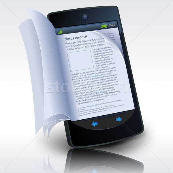 Smartphone ebook illustratie realistisch effect Stockfoto © benchart