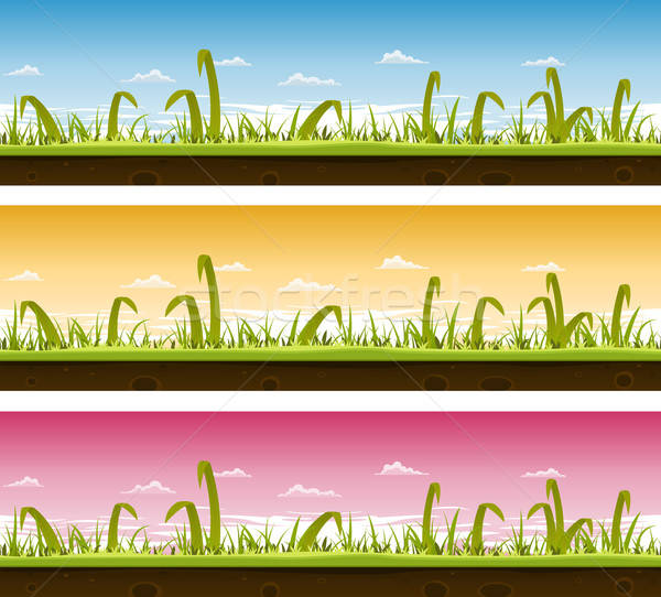 Grass And Lawn Landscape Set  Stock photo © benchart