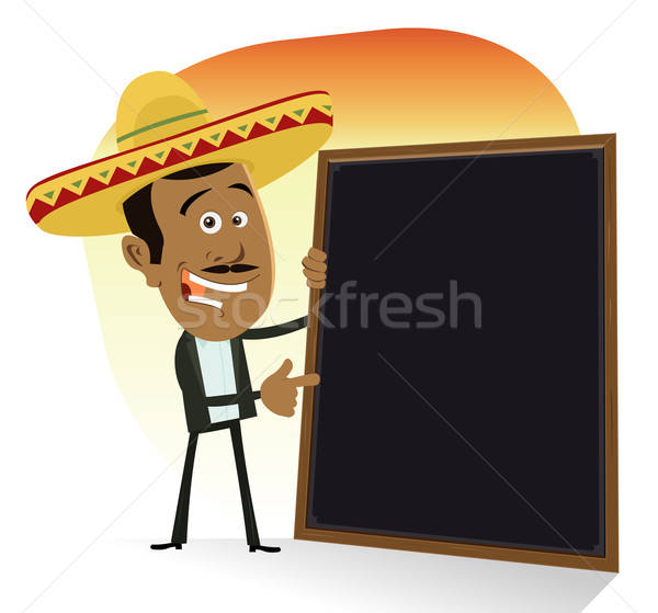 Mexican menu illustrazione cartoon cuoco Foto d'archivio © benchart